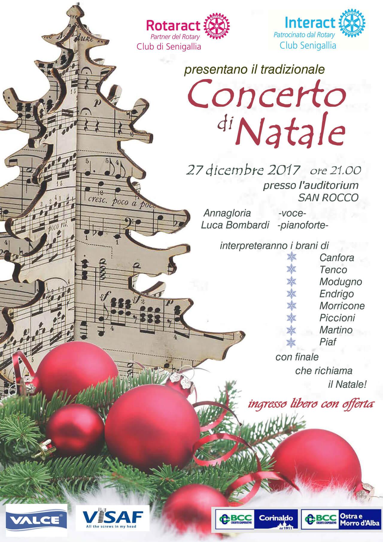Concerto Di Natale.Concerto Di Natale 2017 Rotary Club Senigallia