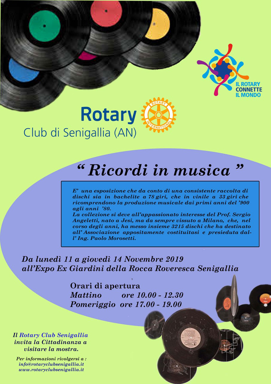 Il Rotary Club Senigallia inaugura all'Expo-Ex la mostra Ricordi in Musica