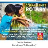 """""""CORALMENTE ROTARY"""" Edizione 2016 –  il Sodalizio festeggia il 111° compleanno"""