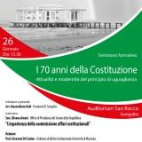 Seminario - I 70 anni della Costituzione