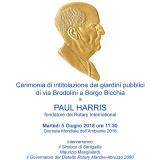 Intitolazione Giardini Paul Harris a Senigallia