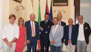 Il Governatore del Distretto 2090 Paolo Raschiatore e sig.ra Marilena in visita al Club di Senigallia