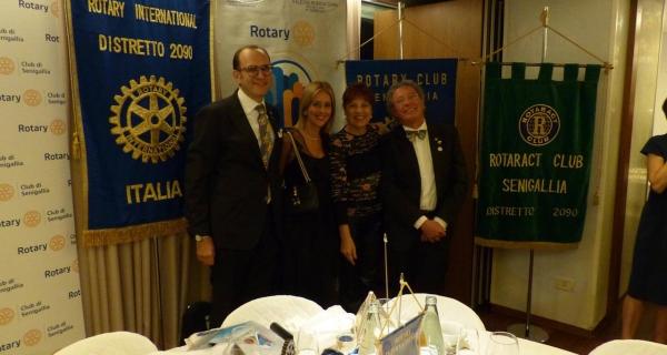 Il Governatore del Distretto 2090 Valerio Borzacchini e sig.ra Carla in visita al Club di Senigallia