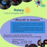 Il Rotary Club Senigallia inaugura all'Expo-Ex la mostra Ricordi in Musica